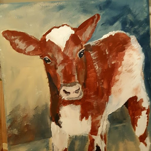 New Born Calf a commision by Suzy Billing-Mountain